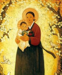Korean Madonna and Child