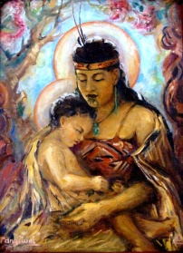 Maori Madonna and Child